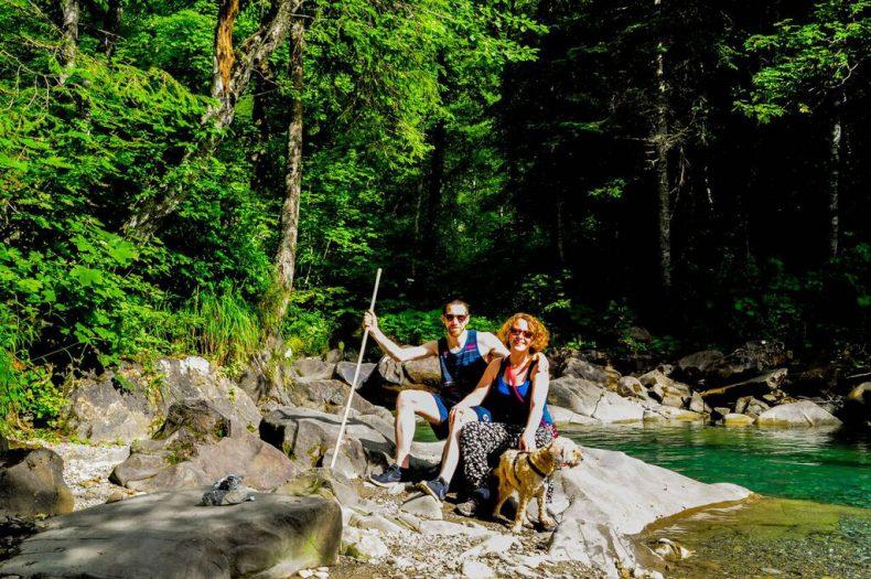 David, Theresa und Lissi im Sommer 2016 am Bodensee.