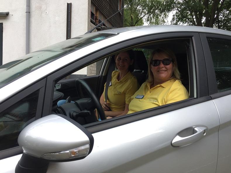 Carola Winand begleitet bei Hilfe Daheim Mitarbeiter in ihren Touren. Foto: Anna Gatz