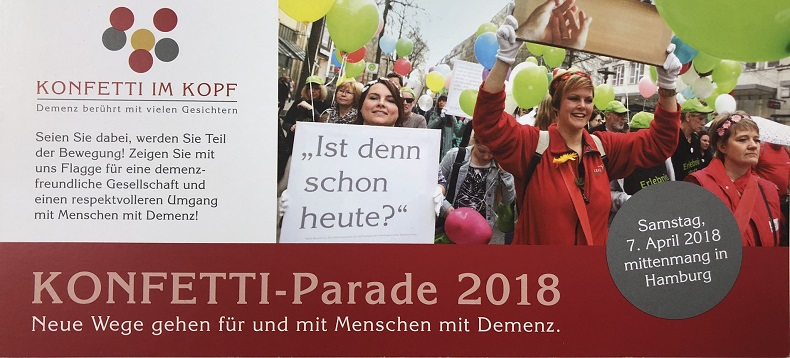 KONFETTI-Parade 2018: wir nehmen teil, ihr auch? Flyer: KONFETTI IM KOPF