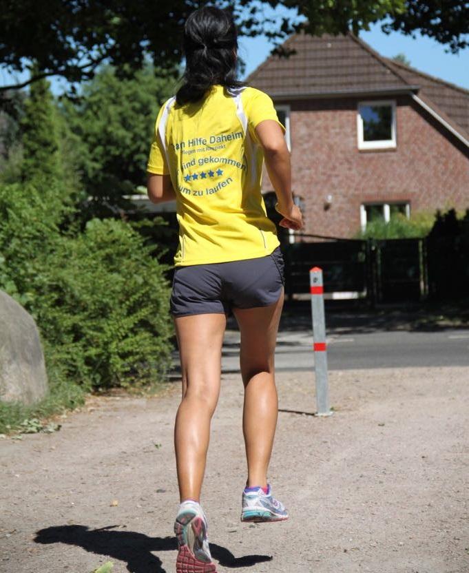 Natthanan beim Lauf-Training für den Halbmarathon. Foto: J. Meyer