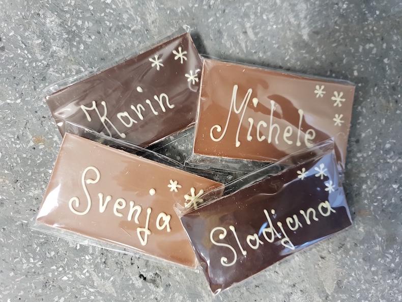 Persönliche Leckerei für die Pflegehelden. Kein Weihnachten ohne Schokolade! Foto: A. Knötzel