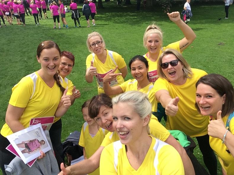 Womens-run 2016: Stefanie und die anderen Hilfe-Daheim-Mädels. Foto: A. Gatz