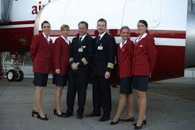 Christiane (ganz links) in ihrer Zeit bei Air Berlin.