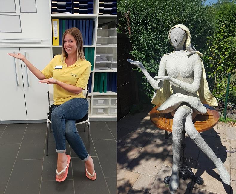 Von der Fotografie zur Pappmaché-Figur: Die Heldin im Entstehungsprozess: Foto: Hilfe Daheim