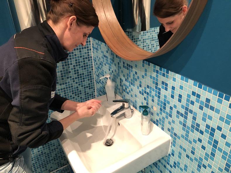Oberstes Gebot: Hände waschen. Hände waschen, Hände waschen! Foto: A. Gatz